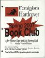 Feminism in Hardcover Book Club, Spring 2007